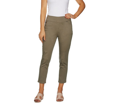 Lisa Rinna Collection Pull-On Stretch Twill Crop Pants