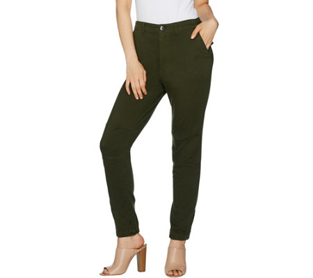 Lisa Rinna Collection Petite Banded Bottom Skinny Ankle Pant
