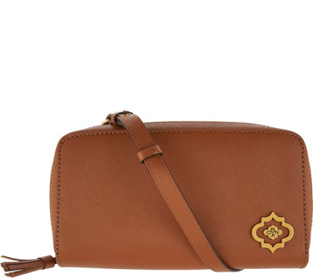 orYANY Saffiano Leather Crossbody Wallet-Talia