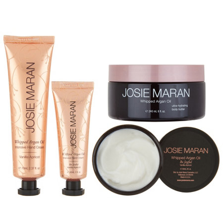 Josie Maran Whipped Argan Body Butter & Hand Cream 4-pc Set