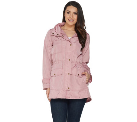 Joan Rivers Water Resistant Anorak with Hood