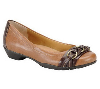Softspots Posie Braided Leather Flats - A324764