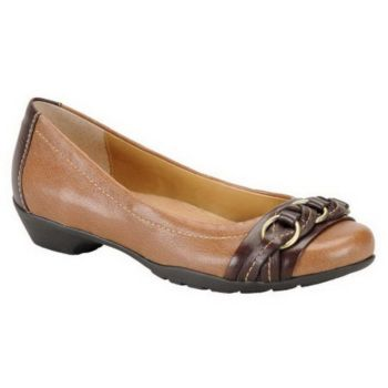 Softspots Posie Braided Leather Flats