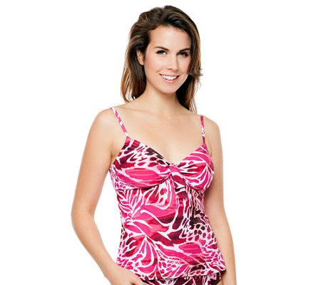 Simply Sole Skin Deep Underwire Tie-Front Tankini Top