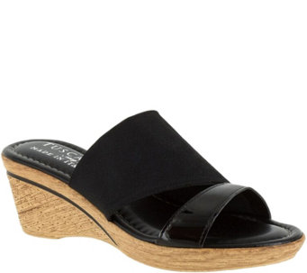 Tuscany by Easy Street Slide Wedge Sandals - Adagio - A356964