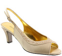 David Tate Satin Evening Pumps - Dainty - A413564