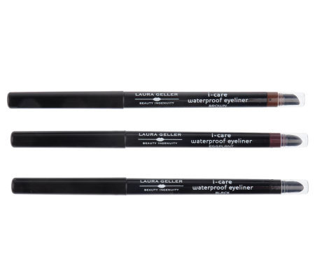 Laura Geller I-Care Waterproof Eyeliner Trio with Sharpener