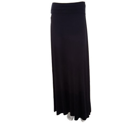 Lisa Rinna Collection Knit Maxi Skirt with Fold-over Waistband