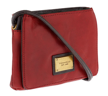 Tignanello Glazed Vintage Slim Crossbody Bag