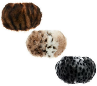 Dennis Basso Set of 3 Faux Fur Boot Toppers - A239665