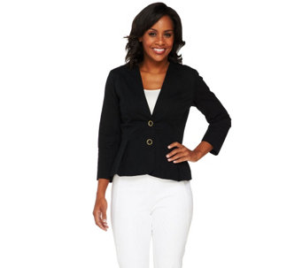 Joan Rivers Tuxedo Jacket with Bracelet Sleeves - A258465