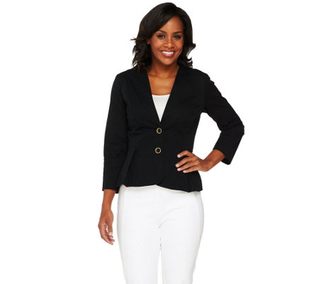 Joan Rivers Tuxedo Jacket with Bracelet Sleeves