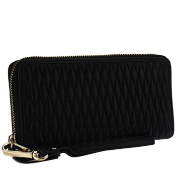 Isaac Mizrahi Live! Bridgehampton Quilted Lamb Leather Wallet