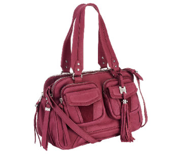 """As Is"" Aimee Kestenberg Christina Crystal Leather Swagger Satchel - A264165"