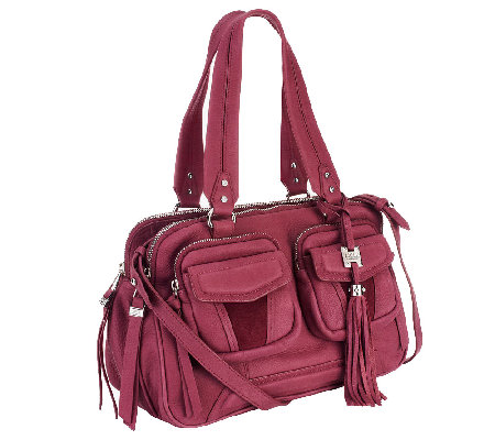 """As Is"" Aimee Kestenberg Christina Crystal Leather Swagger Satchel"