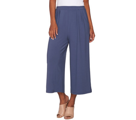 Linea by Louis Dell'Olio Moss Crepe Gaucho Pants
