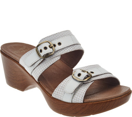 Dansko Leather Double Strap Sandals with Buckles - Jessie