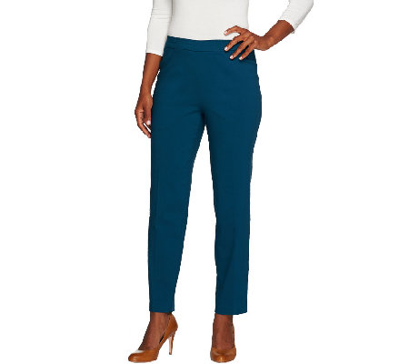 """As Is"" Susan Graver Ultra Stretch Comfort Waist Pull-On Ankle Pants"