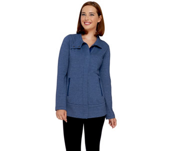 """As Is"" LOGO Lounge by Lori Goldstein Knit Jacket w/ Zip Front Pockets - A276265"