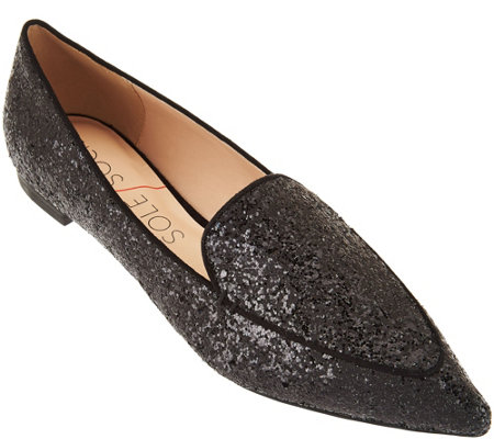Sole Society Pointed Toe Smoking Slipper - Cammila