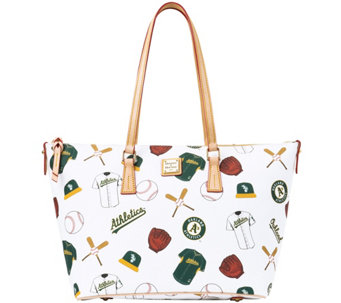 Dooney & Bourke MLB Athletics Zip Top Shopper - A280065