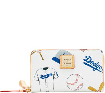 Dooney & Bourke MLB Dodgers Zip Around Phone Wristlet - A280865