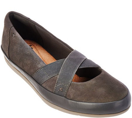 Clarks Collection Nubuck Leather Slip-on Shoes - Lorry Lucent