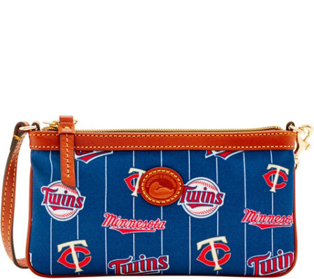 Dooney & Bourke MLB Nylon Twins Large Slim Wristlet