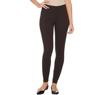 Women with Control Petite Pull-On Leggings with Side Panels - A284265