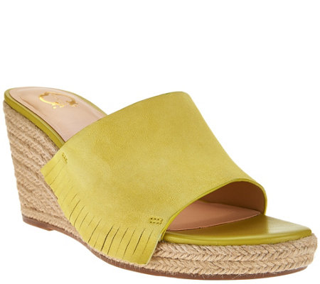 """As Is"" C. Wonder Suede Wedge Espadrilles w/ Fringe - Freida"