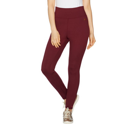 Peace Love World Ponte Knit High Waisted Full Length Legging