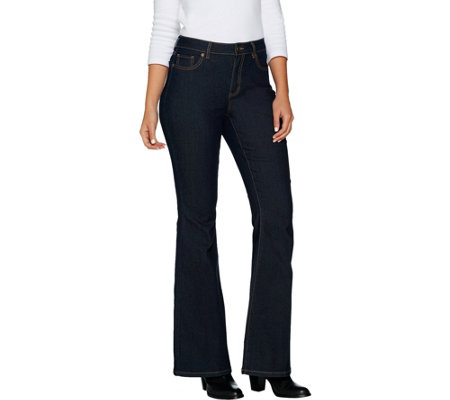Susan Graver Stretch Denim Flare Leg Jeans