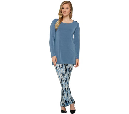 """As Is"" Attitudes by Renee Regular Radiant Knit Tunic & Pants"