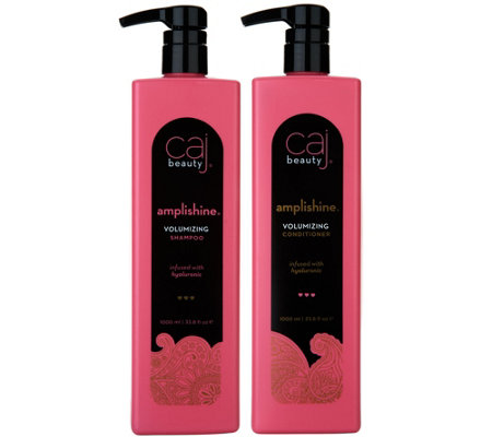 Caj Beauty Super-Size Foaming Shampoo and Conditioner Duo, 33.8 oz
