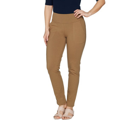 Women with Control Petite Seamed Tummy Control Ankle Pant w/ Pockets