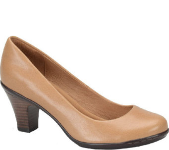 Sofft Round Toe Leather Pumps - Velma - A335565