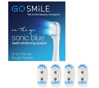 GO SMiLE On The Go Sonic Blue Replacement BrushHeads S/4 - A338965