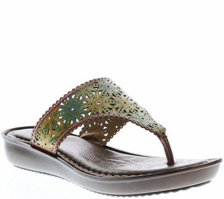 Spring Step L'Artiste Leather Thong Slide Sandals - Jobe