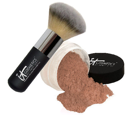 IT Cosmetics Bye Bye Pores HD Bronzer w/ Hydro-Collagen & Brush