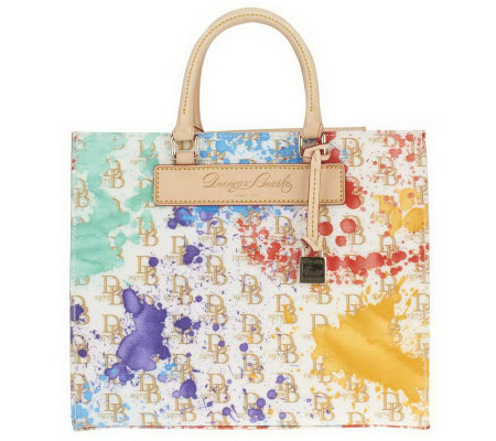 Dooney & Bourke Coated Cotton Splash Print Janine Tote