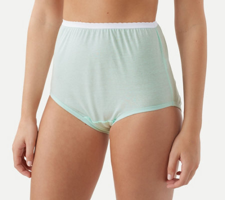 Breezies Set of 6 Cotton Brief Panties w/UltimAir