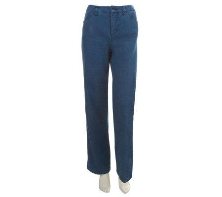 Liz Claiborne New York Petite Jackie Trouser Leg Denim Jeans ...