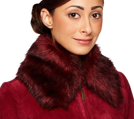 Dennis Basso Removable Faux Fur Collar