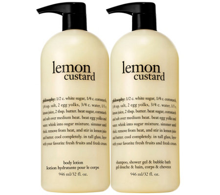 philosophy super-size lemon custard & vanilla coconut gel & lotion