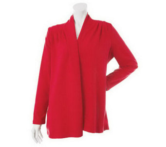 """As Is"" Susan Graver French Terry Cascade Front Cardigan - A240666"