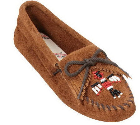 Minnetonka Suede Leather Moccasins - Thunderbird Softsole