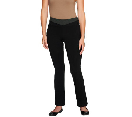 Women with Control Regular Tummy Control Contrast Waist Pants