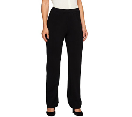 Susan Graver Brushed Back Knit Pull-On Pants - Petite