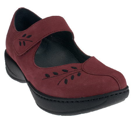 Dansko Leather or Suede Mary Janes w/ Stitch Detail - Annie