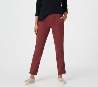 "Denim & Co. 'How Timeless"" Petite 4 Pocket Pull-On Pants - A262866"